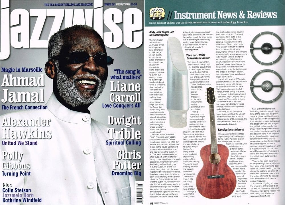 Jazzwise August 2017 Cover and Review